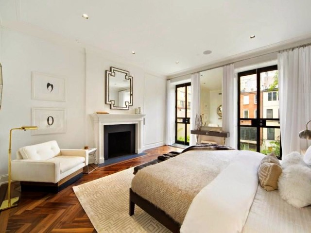 master bedroom new york city townhouse