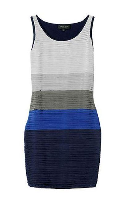 colorblock sleevless dress with silk chiffon layers