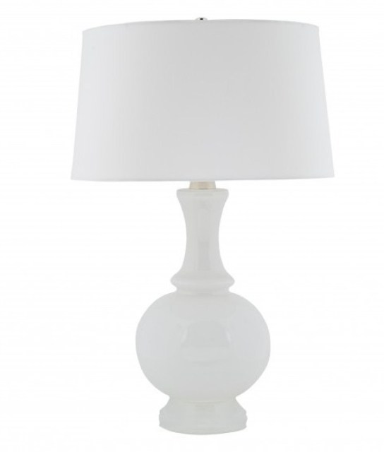 Cheap to chic white light glowing glass table lamps Cheap table lamps