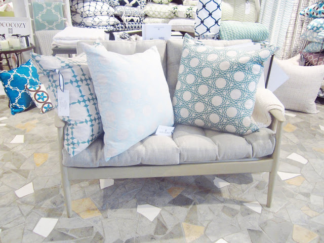 COCOCOZY Natural Linen pillows on a settee