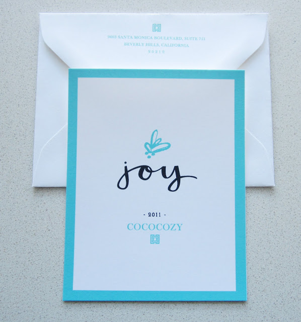 COCOCOZY holiday stationery