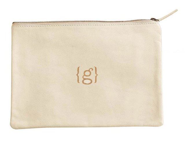 Marc & Graham Monogram Pouch in Ivory
