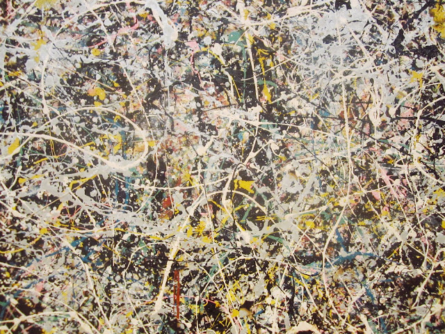 Close up of Number 1 by Jackson Pollock