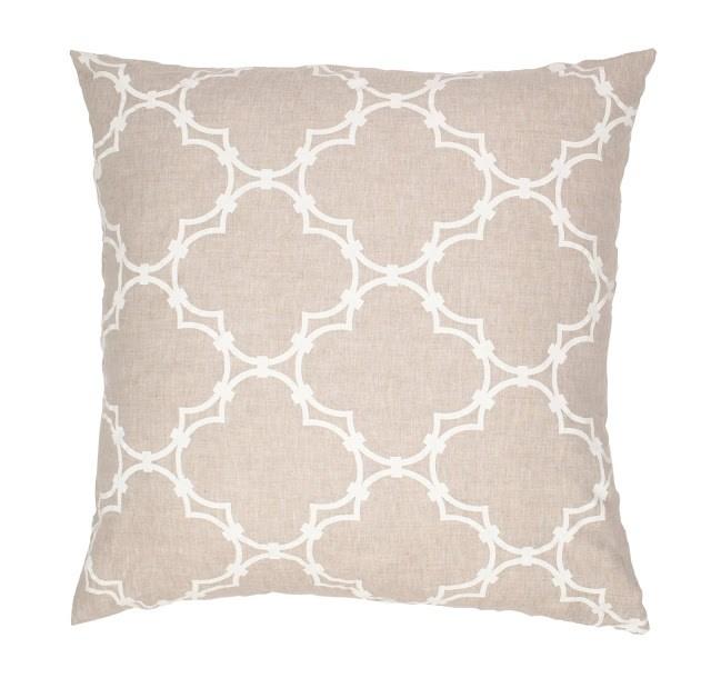 COCOCOZY Quatrefoil Natural Linen Pillow Cove