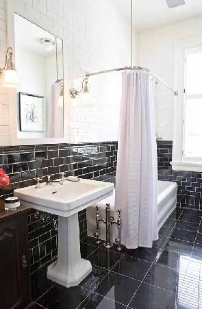 this or that: the black & white bathroom! | cococozy