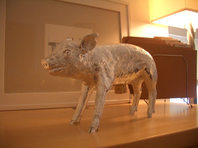 Silver Harry Allen pig piggy bank
