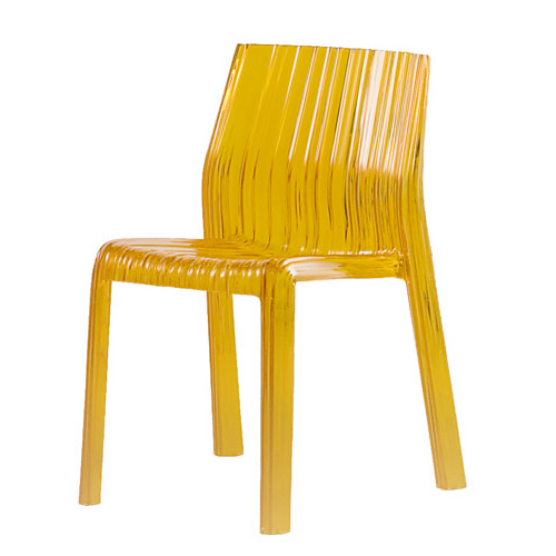 Polycarbonate Side Chair With Wavy Pattern And Shape From Yliving