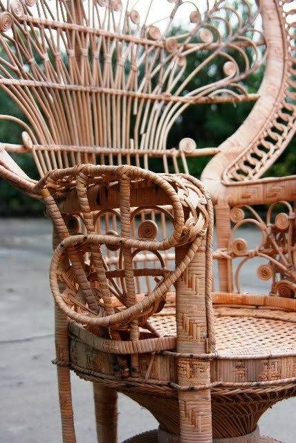 What To Do With A Cool Yard Sale Find A Vintage Wicker