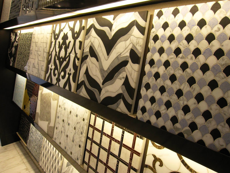 Marble mosaic patterned tile from the Waterworks