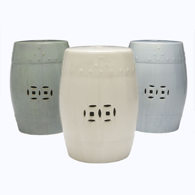 Three Chinese Garden Stools from Wisteria