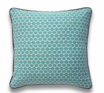 Blue silkscreen pillow from Jonathan Adler