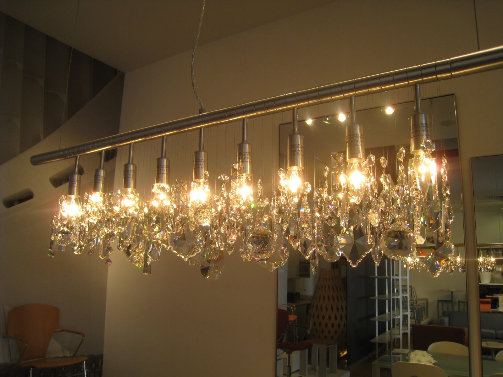 CHEAP TO CHIC STRAIGHT TO THE POINT ON A LINEAR CRYSTAL – Cellula Chandelier