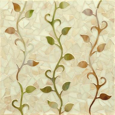 Erin Adams vine pattern tile without bird detail