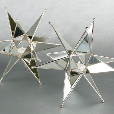 Mirrored star shaped tealight candle holders from Z Gallerie