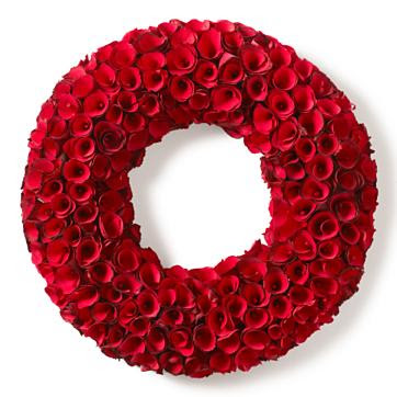 Rose wood wreath from Smith & Hawken