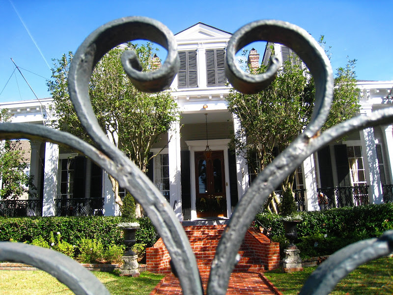 Iron gate in the Garden District of New Orleans, Louisiana
