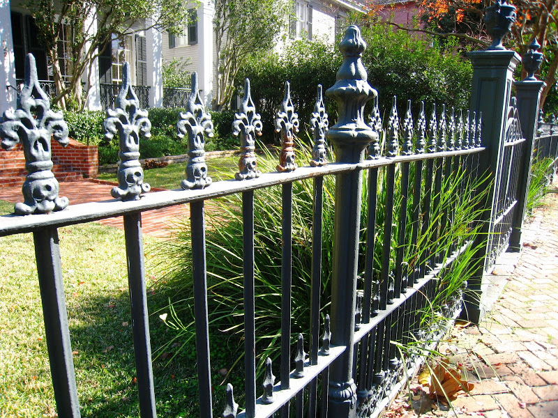 Iron fence in the Garden District in New Orleans