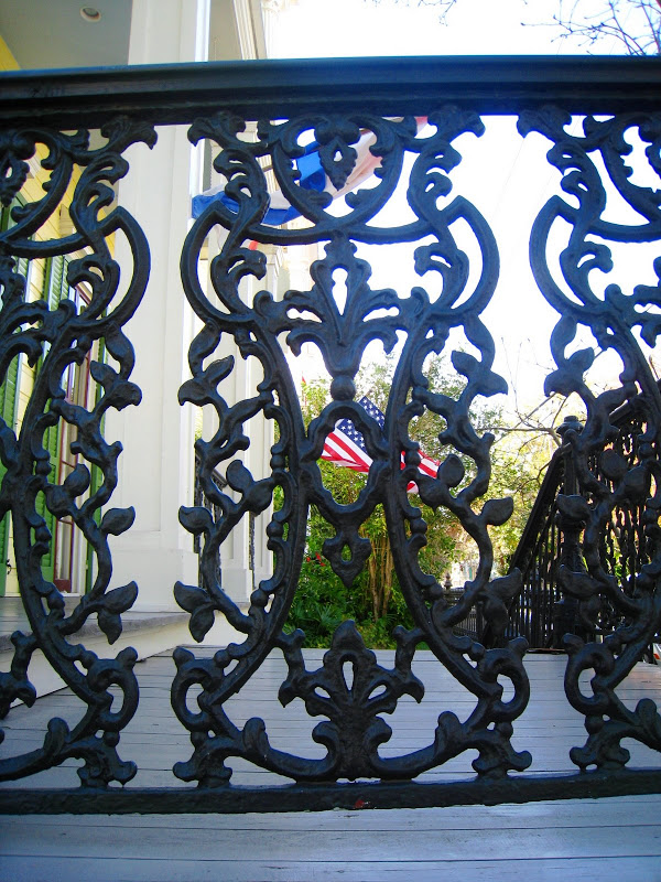 Iron work in the Garden District of New Orleans, Louisiana