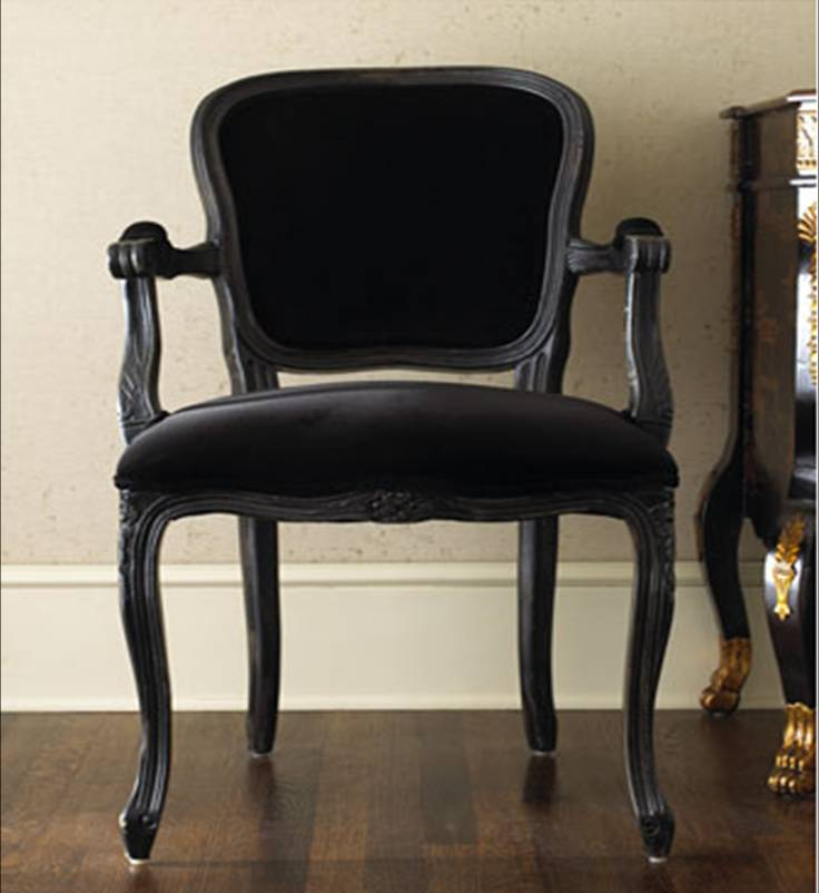 Luxe Design Fauteuil.Design On Sale Daily Luxe Black Velvet French Style Fauteuil