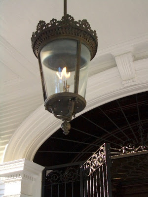Lantern at the Wedding Cake House in New Orleans