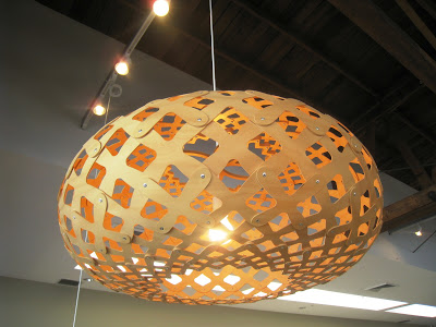 Woven pine pendant light from Design Within Reach