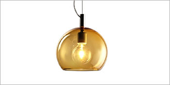 Translucent globe shaped glass pendant light from Resolute Lighting