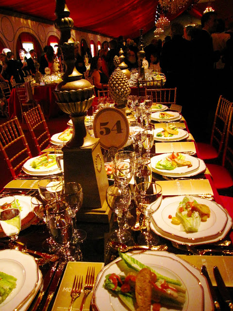 Table setting at MOCA's 30th anniversary party
