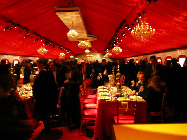 Dinner tent at MOCA's 30th anniversary party