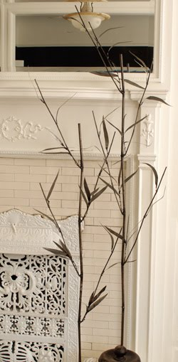 Decorative steel faux bamboo shoots from Kenneth Wingard