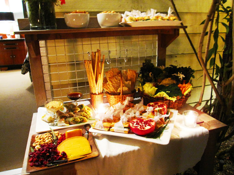 Food catered by Joan's on Third at a holiday party in Venice Beach, CA