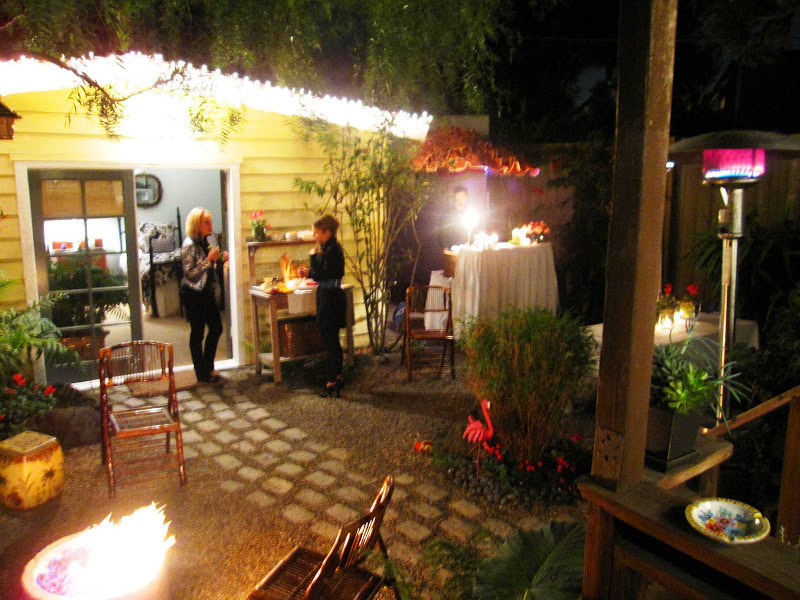 Party in a garden in Venice Beach, CA