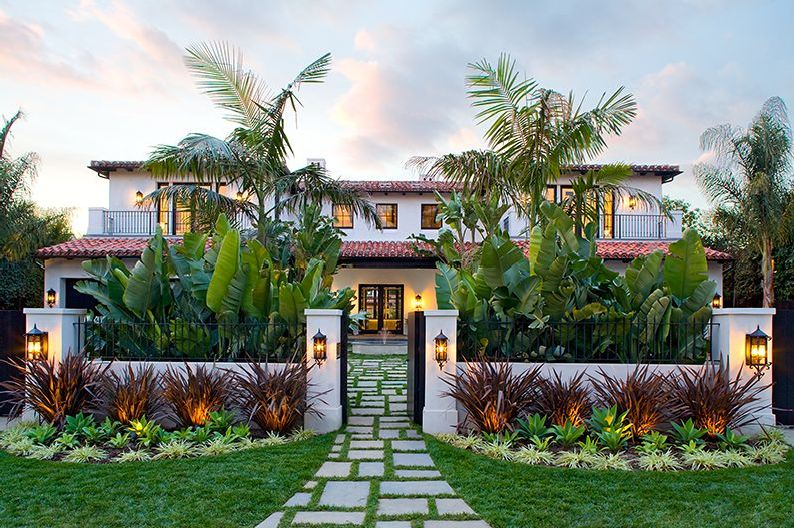 Exterior of a Spanish revival style home in Los Angeles