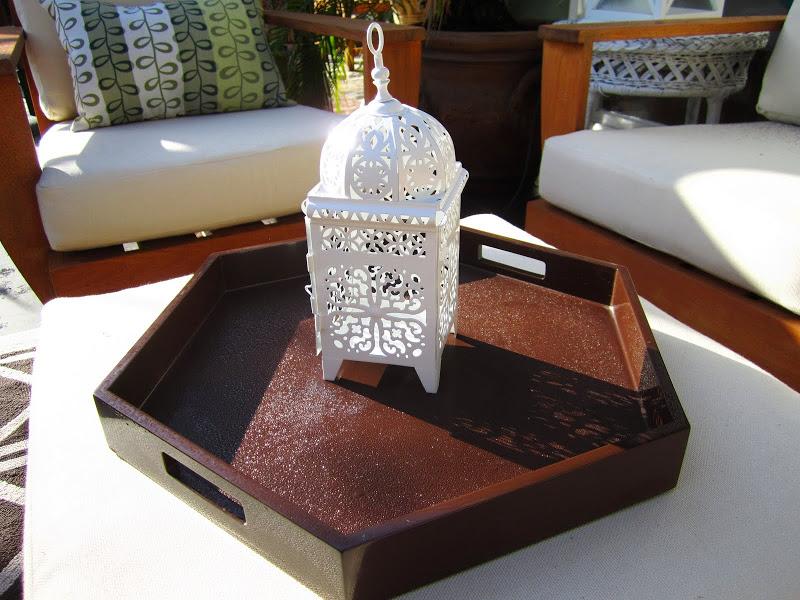 white metal Moroccan lantern