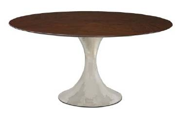 Round rosewood table from Mecox Gardens