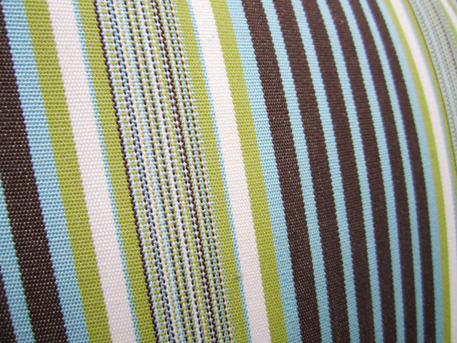 Close up of striped pillow