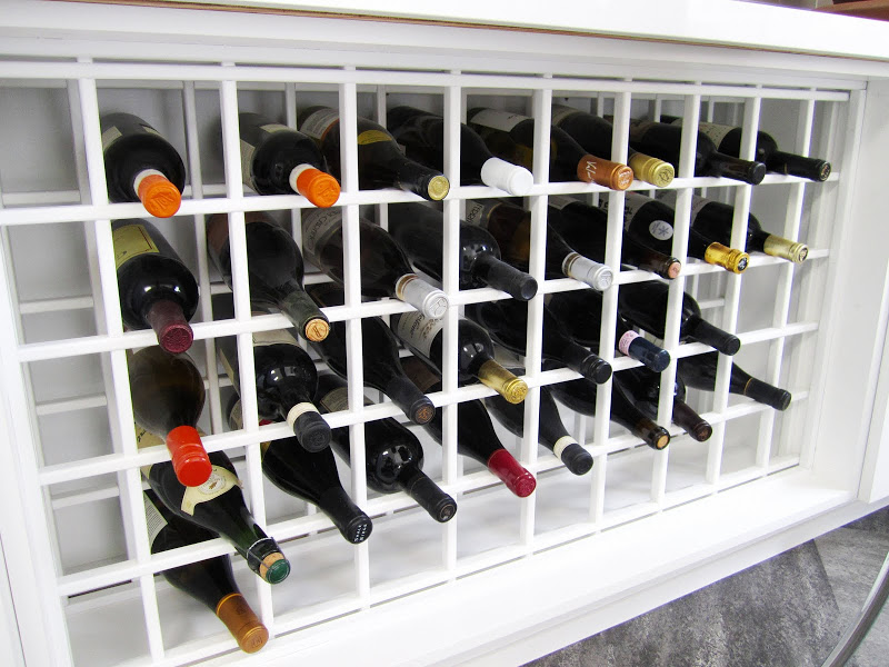 White wine rack in a modern and functional kitchen