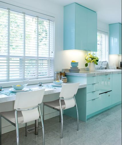 A Modern Bright And Airy Kitchen With Wooden Details: KITCHEN BLUES!