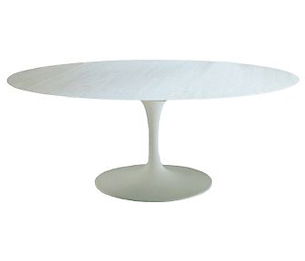 White oval tulip table from Conran