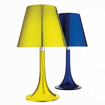 Blue and yellow Philippe Starck lamps