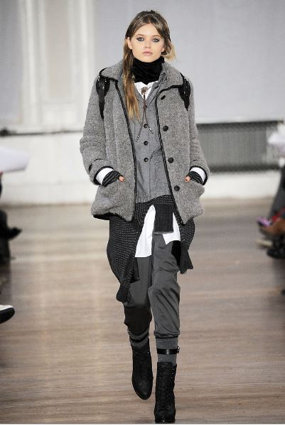 Model from Rag & Bone's Fall 2010 fashion show