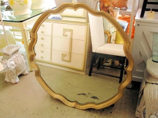 Pie Crust Shaped Mirror