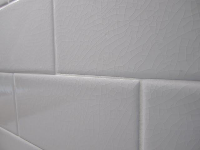 White subway tile with cracked finish