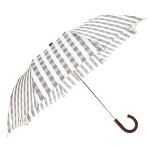 Brown and white gingham umbrella from Buffalo Check Umbrella