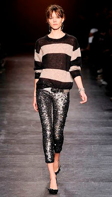 Model from Isabel Marant's Fall Ready-to-Wear 2010 Fashion show