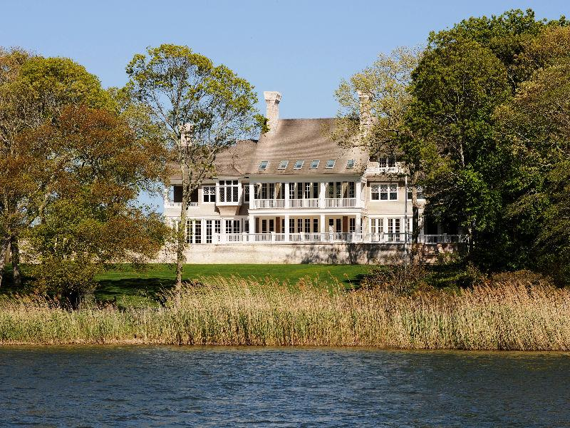 exterior of a mansion in East Hamptons