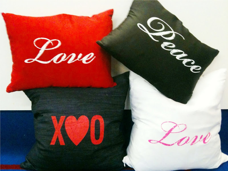 Four Fred Segal Originals Pillows