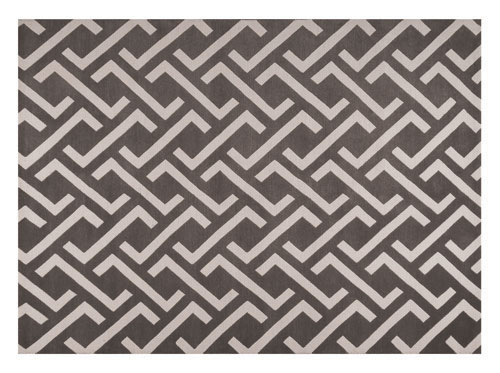 Black and white Kathmandu rug from ELTE