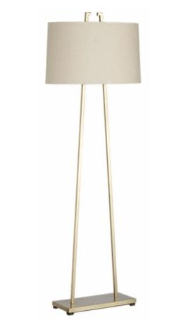 Mid Century Brass Floor Lamp From Crate U0026 Barrel