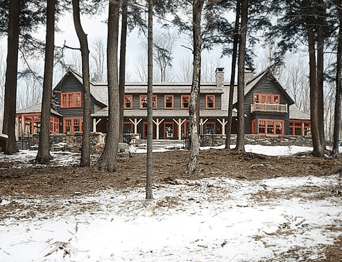 Exterior of a house in upstate New York by Peter Pennoyer