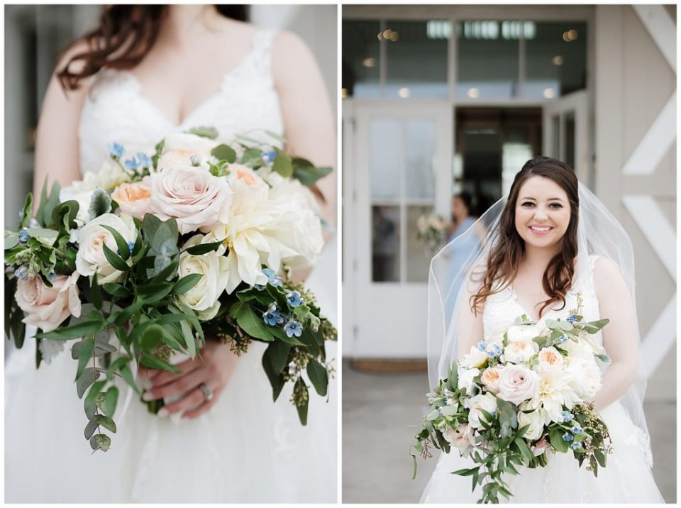 Coco Fleur Bride with bouquet